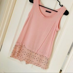Pink Tank Top with pattern bottom